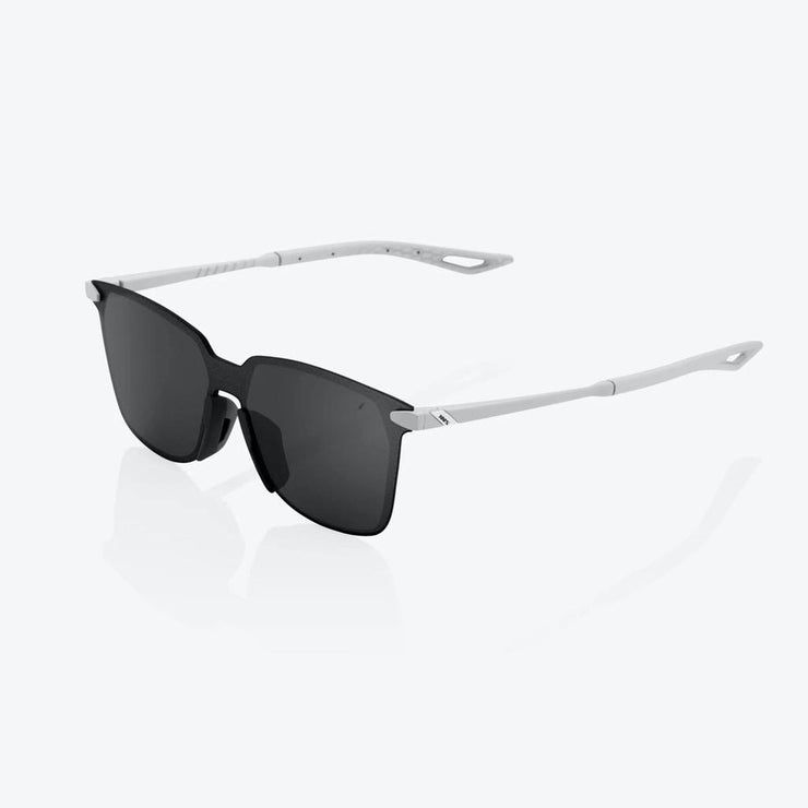 100% Legere Square - Soft Tact Stone Grey - Black Lens