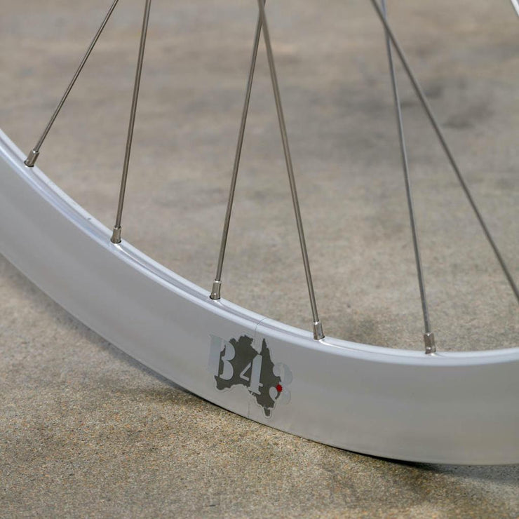 NOS Silver Velocity B43 Track Wheel - Front