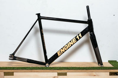Engine11 Sprinter Track Frame - Black Speckle & Gold - Large