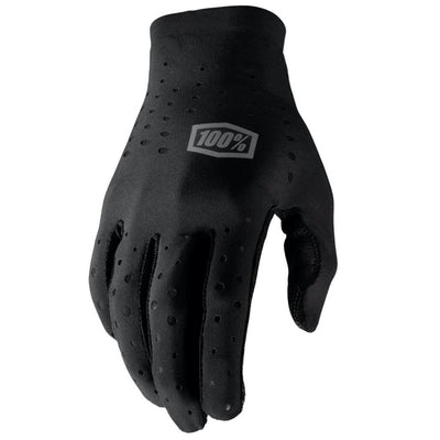 100% Sling Long Finger Glove - Black