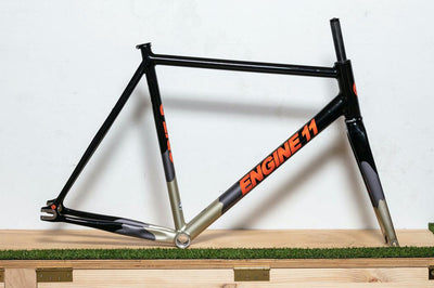 Engine11 CritD Track Frameset - Black & Orange - Extra Large