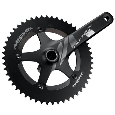 Miche Pistard 2.0 Crankset & Bottom Bracket - 165mm - 49T - Black