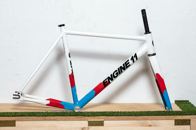 Engine11 CritD Track Frameset - Red/White/Blue - Medium