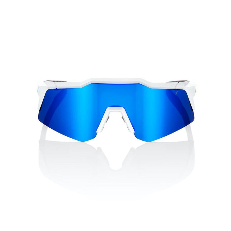 100% Speedcraft XS - Matte White - Blue Multilayer Lens