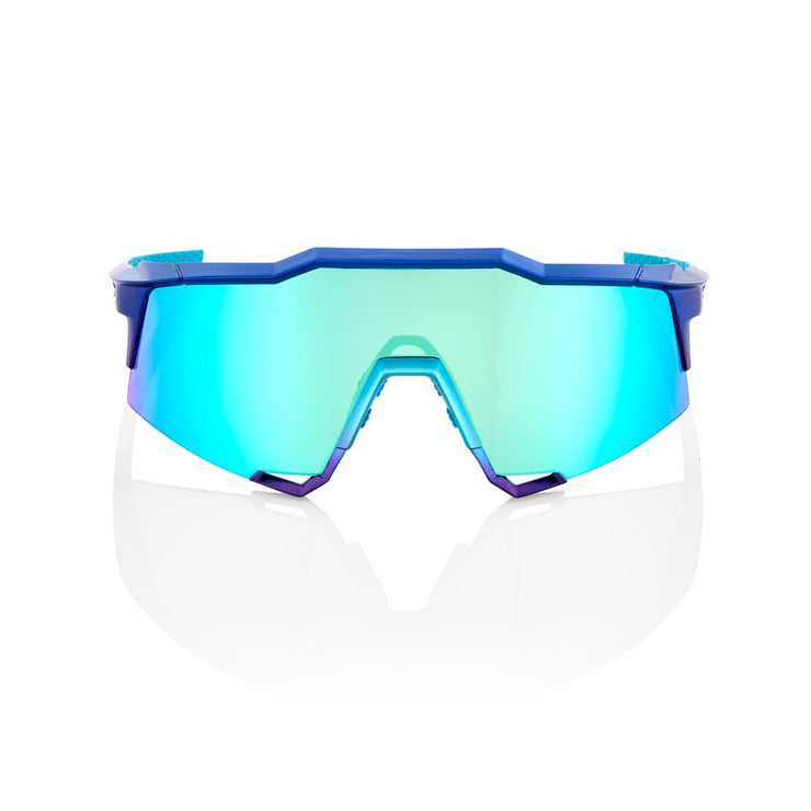 100% Speedcraft - Matte Metallic Into the Fade - Blue Topaz Multilayer Mirror Lens