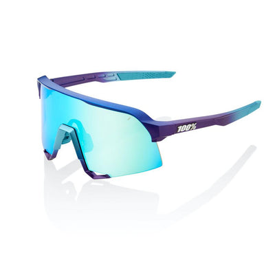 100% S3 - Matte Metallic Into the Fade - Blue Topaz Multilayer Mirror Lens