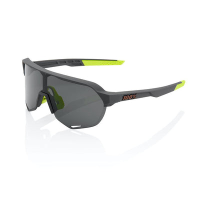 100% S2 - Soft Tact Cool Grey - Smoke Lens