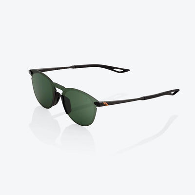 100% Legere Round - Matt Black - Grey Green Lens