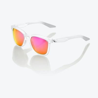 100% Hudson - Matte Translucent Crystal Clear - Purple Multilayer Lens