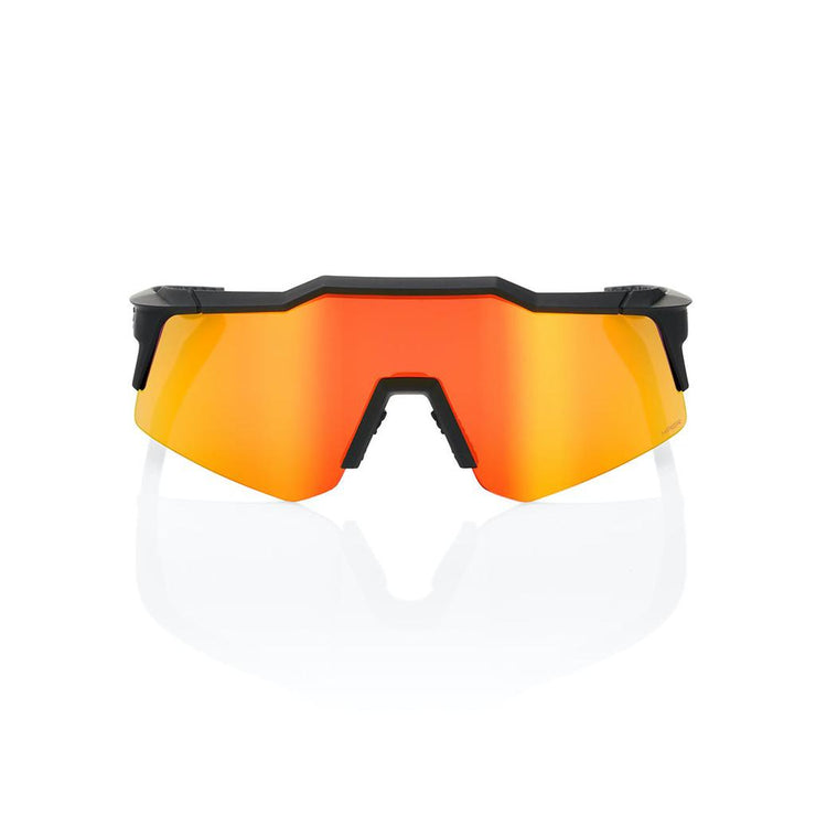 100% Speedcraft XS - Soft Tact Black - HiPer Red Lens