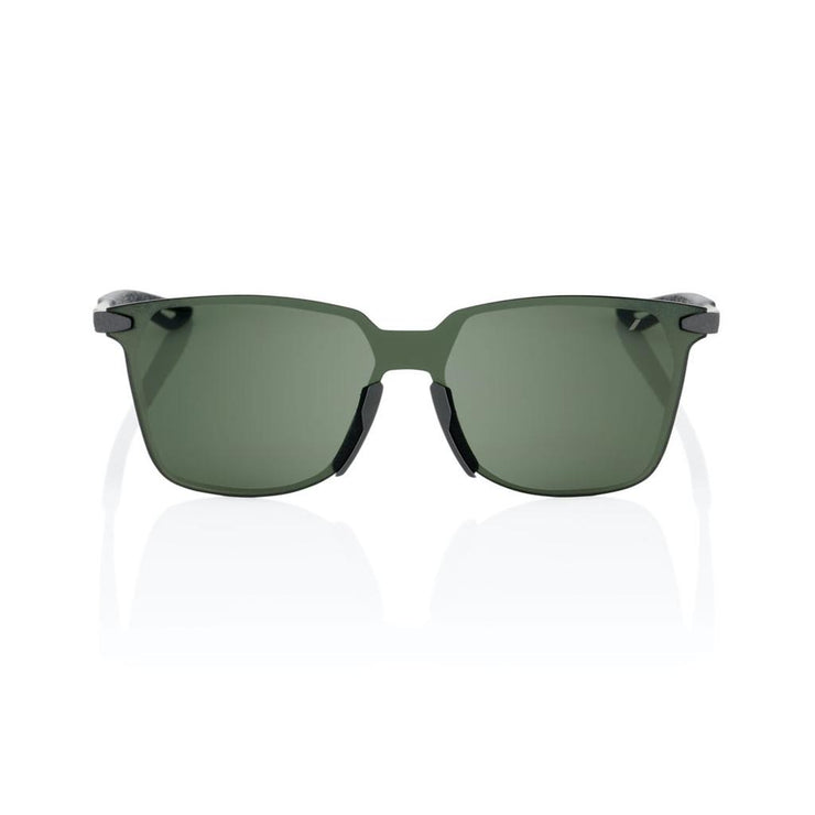 100% Legere Square - Matte Black - Grey Green Lens