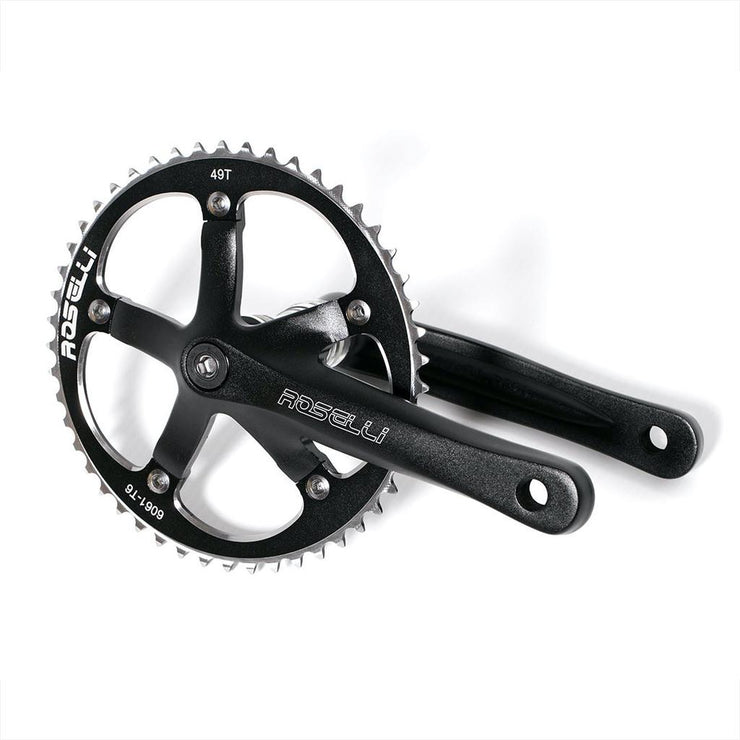 Roselli ISIS Drive Track Crankset - 165mm - 49T
