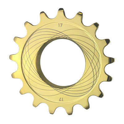 "Bespoke Chainrings 1/8"" Track Sprocket - TiNite Gold"