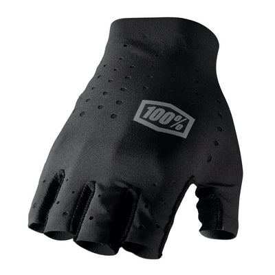 100% Sling Short Finger Gloves - Black