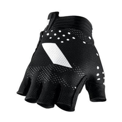 100% Exceeda Short Finger Gloves - Black