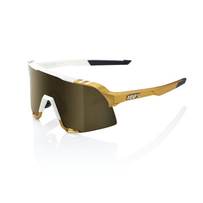 SOLD OUT - 100% S3 - Limited Edition Peter Sagan - White Gold - Gold Mirror Lens