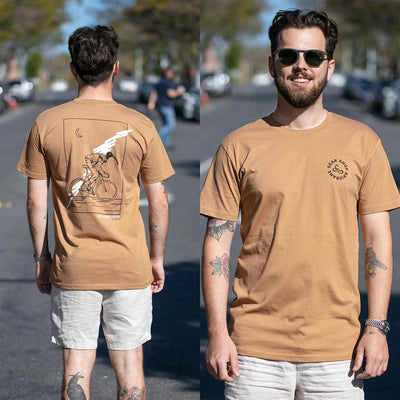 becausefixie x GEAR Shop - Bin Chicken Tee - Camel