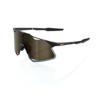 100% Hypercraft Matte Black - Gold Lens