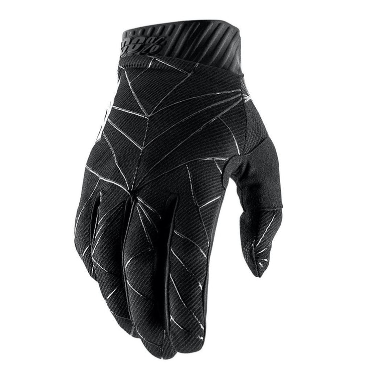 100% Ridefit Long Finger Glove - Black