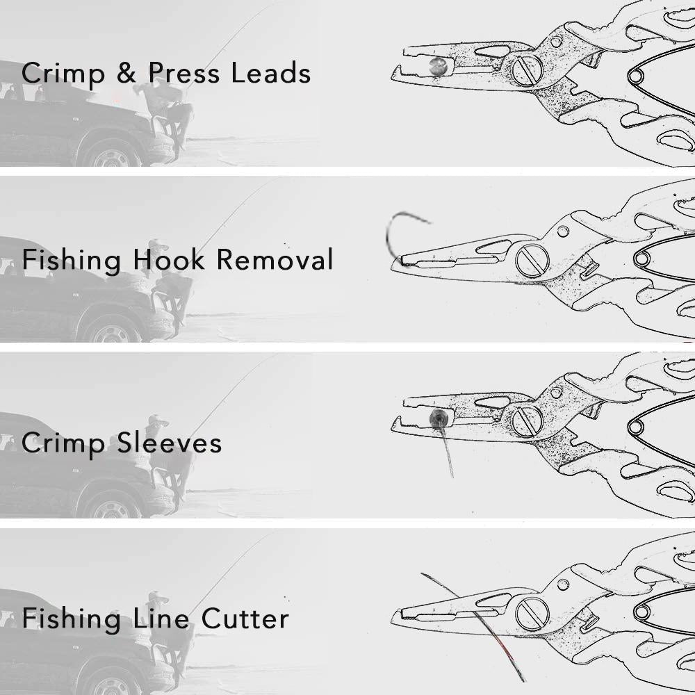 Anti-lost Fishing Pliers Stainless Steel Tools Fishing Line Pliers