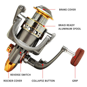 Spinning Fishing Reels 13BB Light Weight Ultra Smooth Powerful Reels