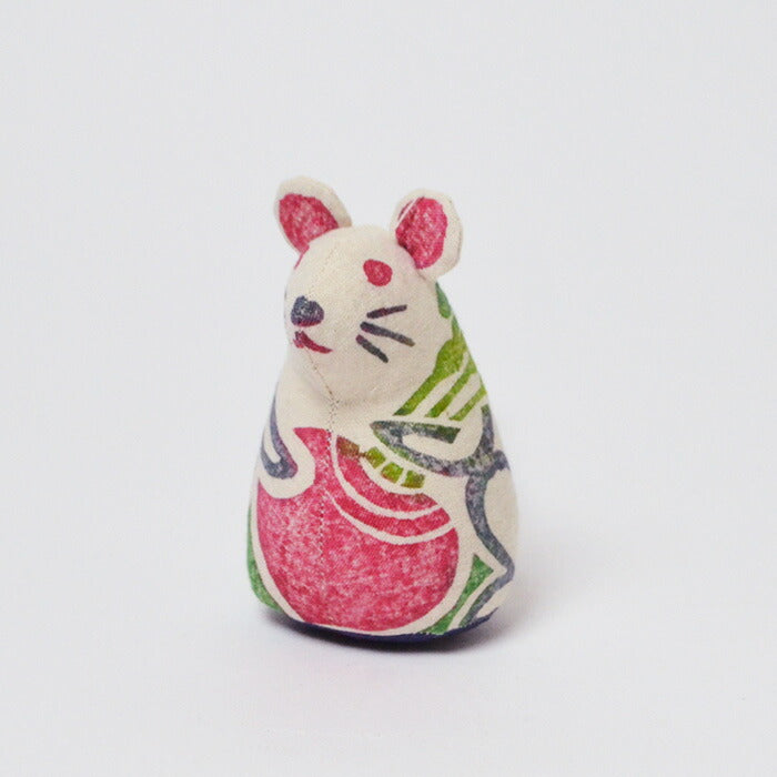Wood plate hand-dyed plush doll Chinese zodiac sign series Child Mouse