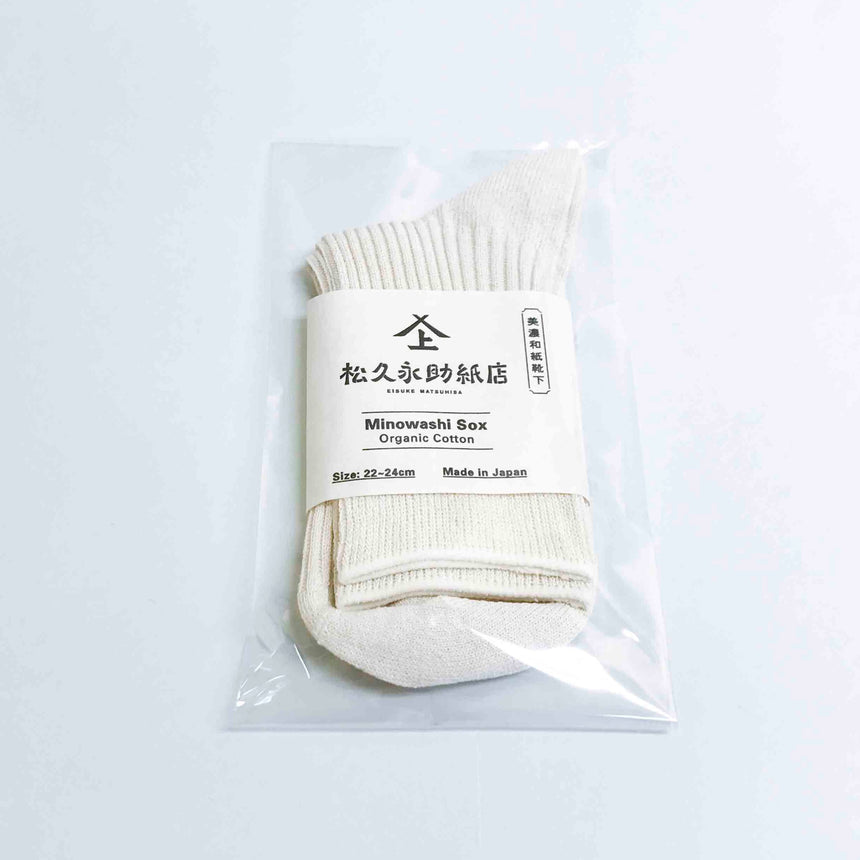 Mino Japanese paper socks organic cotton 22-24cm