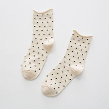 Load image into Gallery viewer, Happy Women Socks 2019 New Arrivals Japanese High Quality Combed Cotton Lovely Dot female loose socks Kawaii Socken 5 Colors
