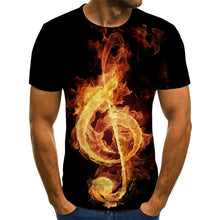 Load image into Gallery viewer, Herren Musiksymbol T-Shirt