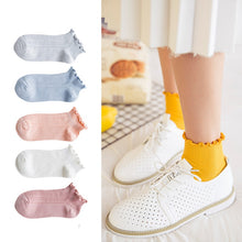 Load image into Gallery viewer, Cute socks striped frilly kawaii calcetines harajuku  korean style chaussette femme happy meias women socken fashion woman sock