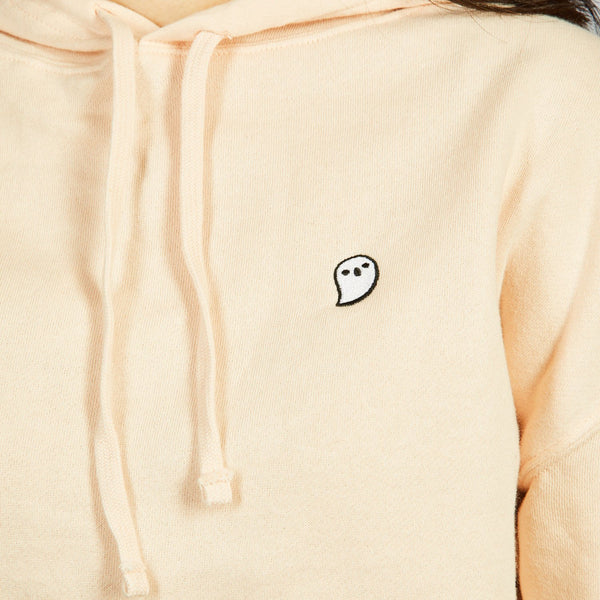Too Many Spirits Embroidered Cropped Hoodie (UNISEX) - Glows in the dark