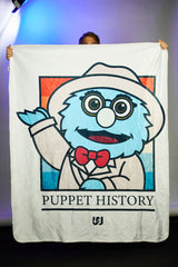 "Puppet History The Professor Sherpa Blanket (50""x60"")"