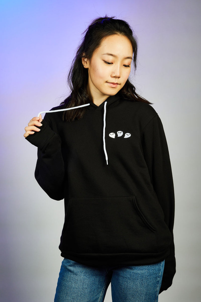 Too Many Spirits Embroidered Hoodie - Glows in the dark