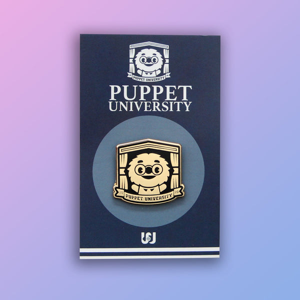 Puppet University - The Professor Crest Golden Pin
