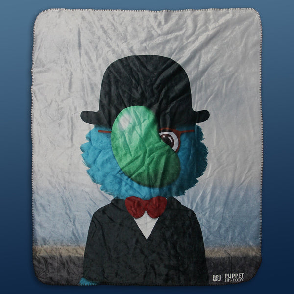 "Puppet History Son of Man Sherpa Blanket (50""x60"")"