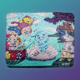 "Puppet History The Birth of Venus Sherpa Blanket (50""x60"")"