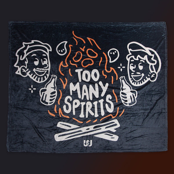 "Too Many Spirits Camp Fire Fleece Blanket (50""x60"")"