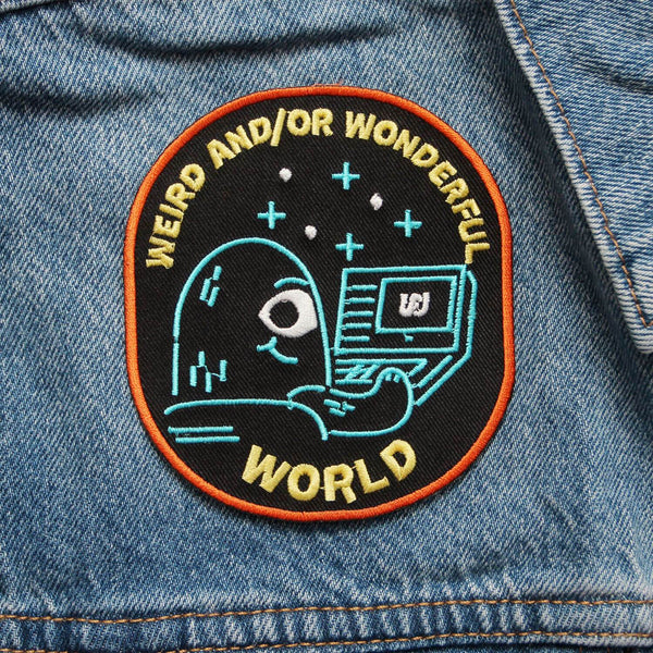Weird and/or Wonderful World Patch (IRON ON)