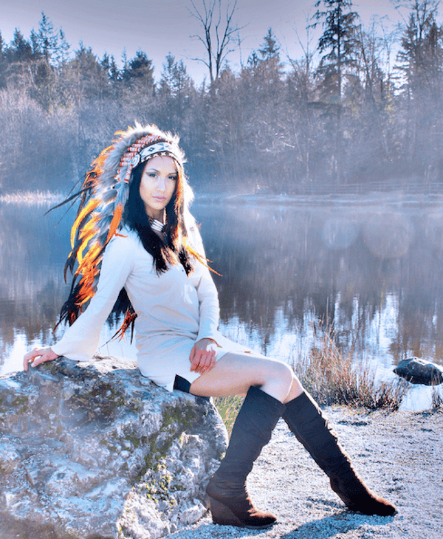 Orange Indian Headdress - 95cm