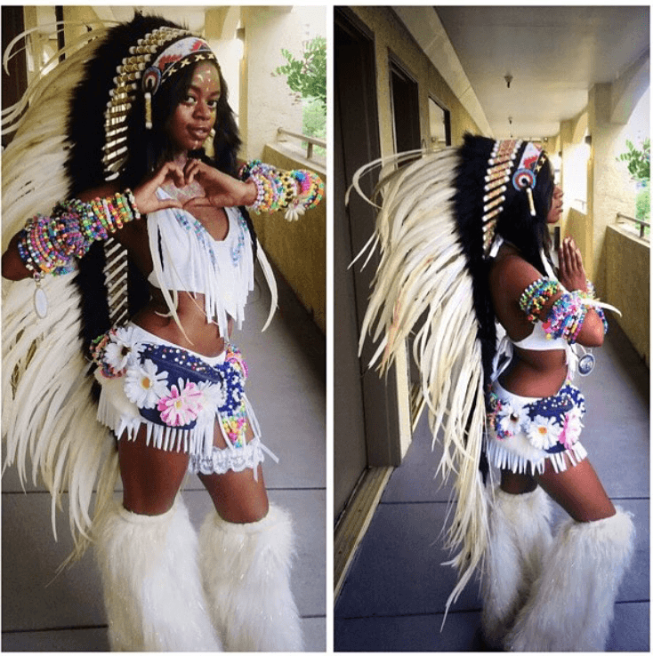 Pure White War Bonnet - 130cm