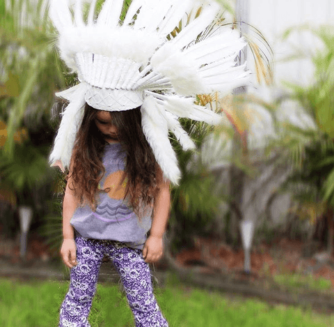 Kids Headdress - White