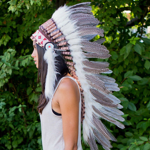 Pearl Indian Headdress - 95cm