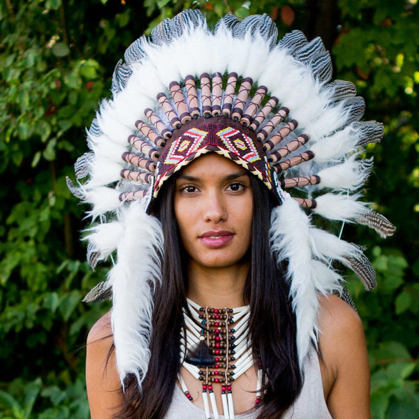 Pearl Chief Headdress - 65cm
