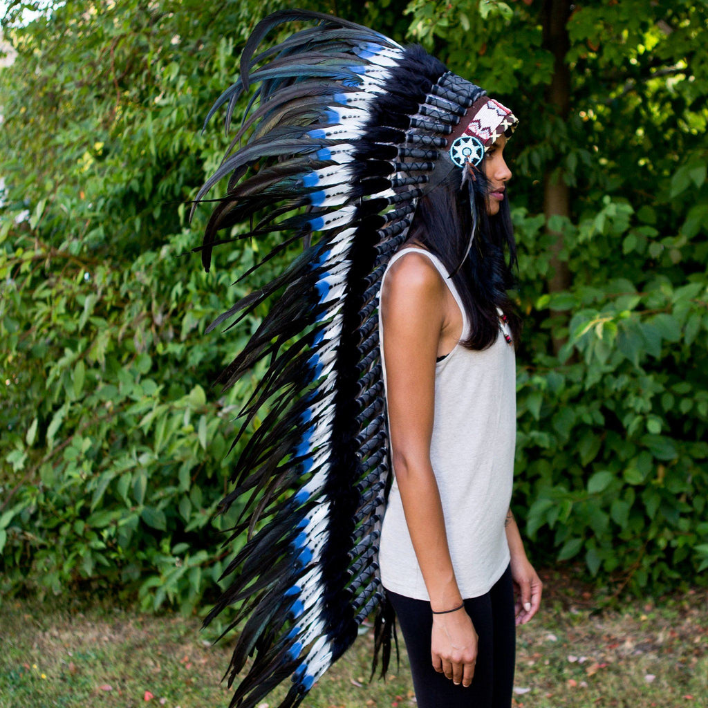 Blue Tips War Bonnet - 130cm