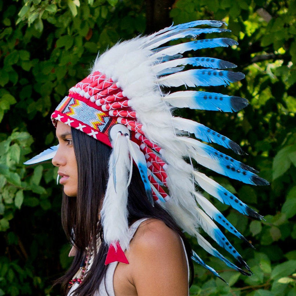 Blue Tips Chief Headdress - 65cm