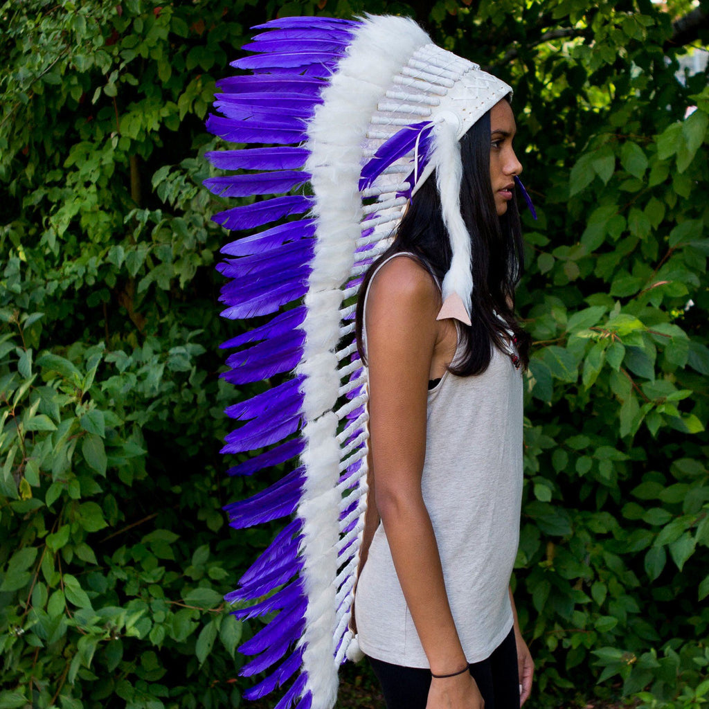 White-Purple War Bonnet - 130cm