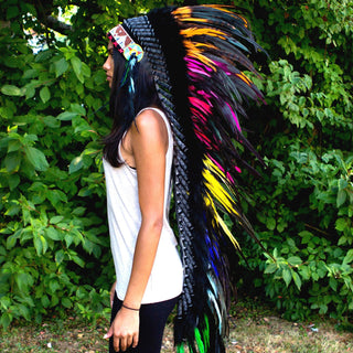 Mixed Colors War Bonnet - 130cm