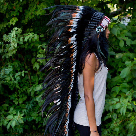 Brown Tipped War Bonnet - 130cm