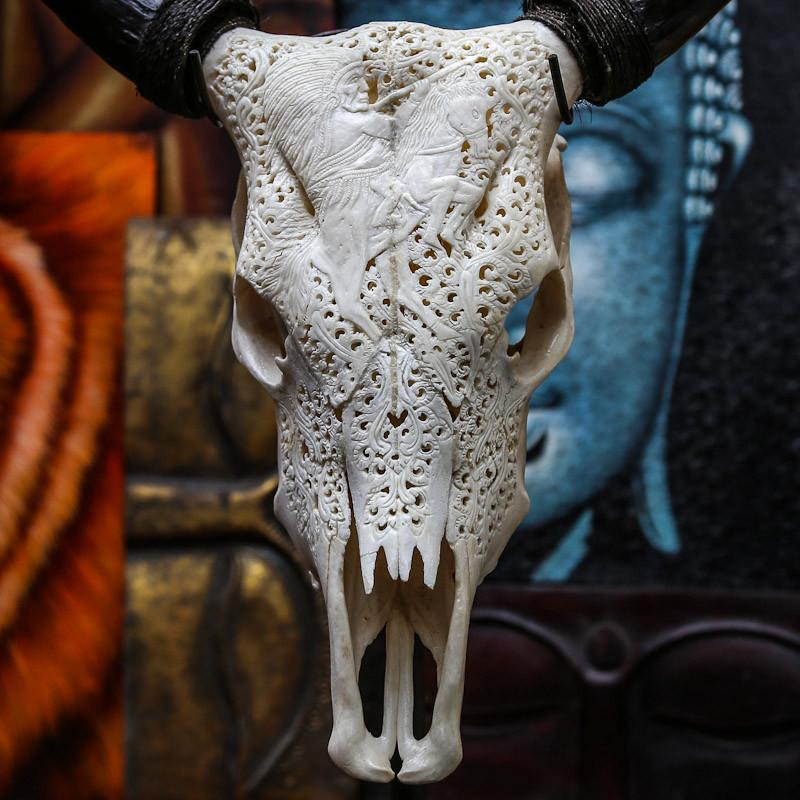 Cow Skull - Indian On Horse