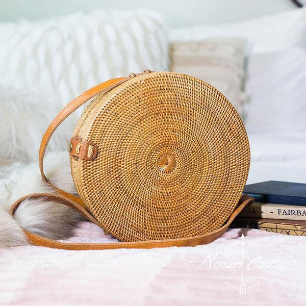Round Rattan Bag (Large) - Penida
